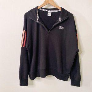 Victoria's Secret PINK Black Rainbow Sweatshirt